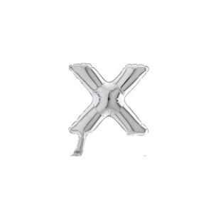 """Lettera X in Mylar 7""""/18 cm..."""