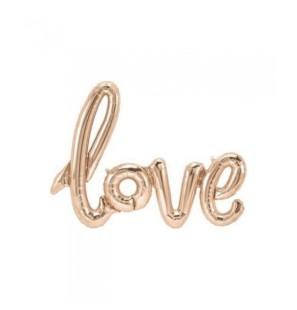 """Love Rosa Gold 42""""- Mylar"""
