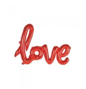 """Love Rosso 42""""- Mylar"""