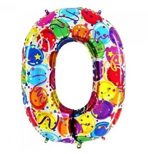 Numero 0 in mylar 100cm...