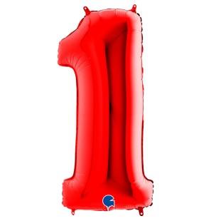 Numero 1 in Mylar 100cm...