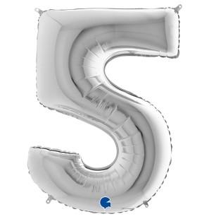 Numero 5 in mylar 100cm...