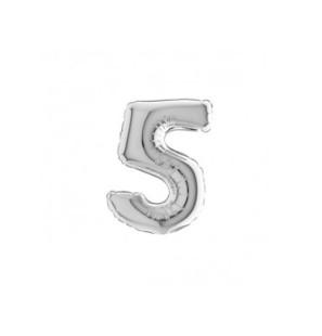 Numero 5 in Mylar 18cm...