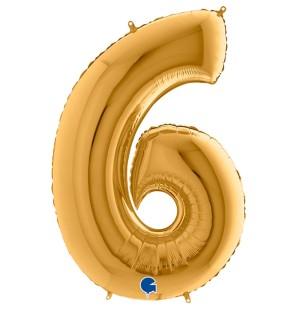 Numero 6 in Mylar 100 cm...