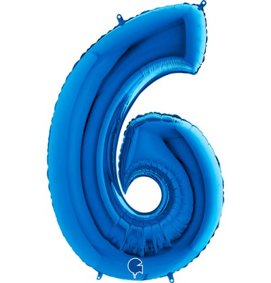 Numero 6 in Mylar 100cm...