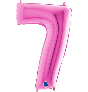 Numero 7 in Mylar 100cm...