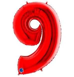 Numero 9 in Mylar 100 cm...