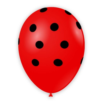 "Palloncini Pois 12"" - Rosso..."