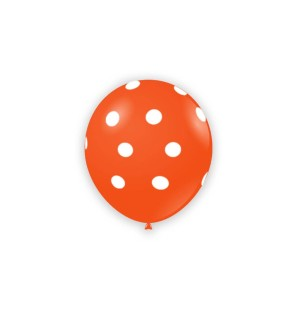 "Palloncini Pois 5"" - Arancio"