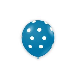 "Palloncini Pois 5"" - Blu 52"