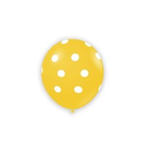 """Palloncini Pois 5"""" - Giallo"""