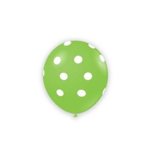 "Palloncini Pois 5"" - Verde..."
