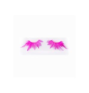 Ciglia Finte Lunghe Rosa Fluo