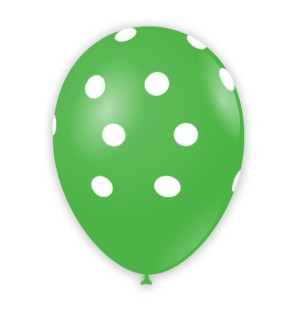 """Palloncino Pois 12"""" - Verde..."""