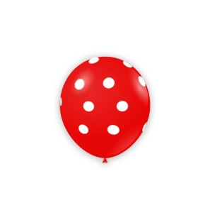 "Palloncino Pois 5"" - Rosso..."