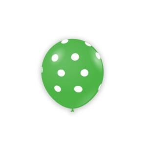"""Palloncino Pois 5"""" - Verde..."""