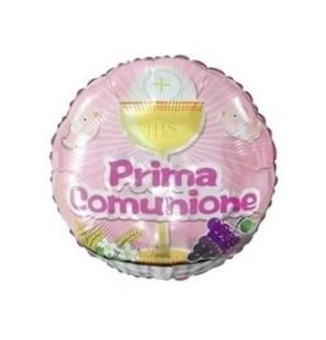 """Prima Comunione Rosa 18""""-Mylar"""