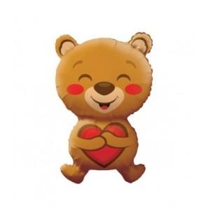 "Smiling Bear Love 28""- Mylar"