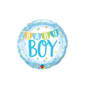Baby Boy Banner Dots...