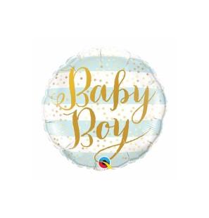 """BABY BOY BLUE STRIPES 18"""" -..."""