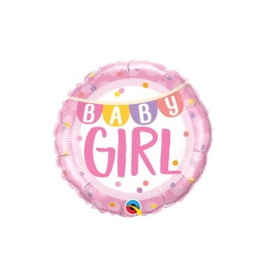 "BABY GIRL BANNER DOTS 18"" -..."