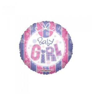 """Baby Girl Mylar-18""""/45cm"""