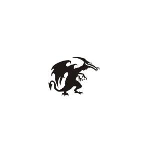 Stencil Adesivo 14700 Dragon