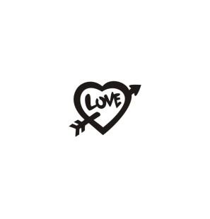 Stencil Adesivo 37000 Heart...