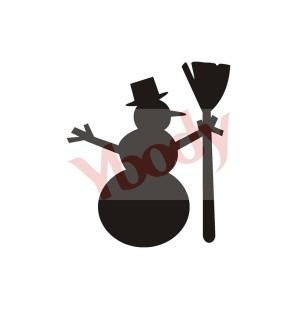 Stencil Adesivo 80400 Snowman