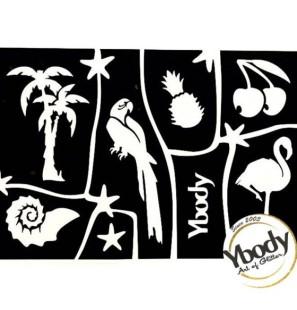 Tropical - 6 Stencil foglio...
