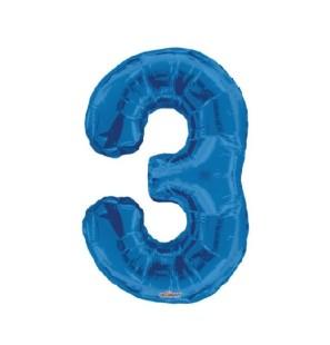 "Numero 3 in Mylar - 34"" -..."
