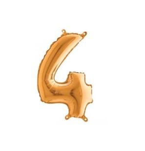 Palloncino FOIL MYLAR numero 70 colore ORO 35 cm