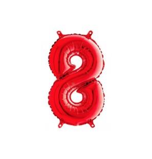 Numero 8 35cm Rosso...