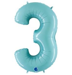 "Numero 3 in Mylar 40""/100cm..."