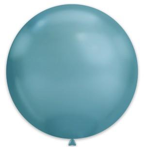 25 Palloncini Blu Chrome...