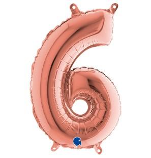 Palloncino Numero 6 Rosa...