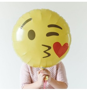 "Emoticon Bacio 18""- Mylar"