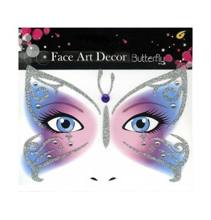 Face Art Decor Butterfly