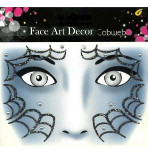 Face Art Decor Cobweb