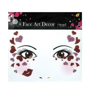 Face Art Decor Heart