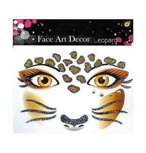 Face Art Decor Leopard