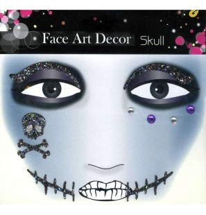 Face Art Decor Skull