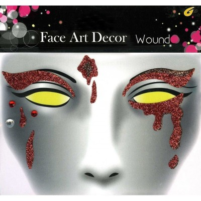 Face Art Decor Wound