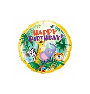 "BIRTHDAY JUNGLE FRIENDS 18""..."
