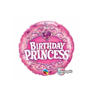 """BIRTHDAY PRINCESS 18"""" - MYLAR"""