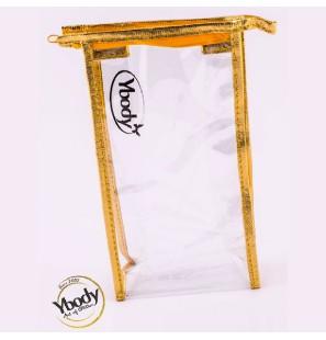 Golden Plastic Bag w/zipper
